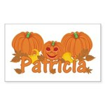 Halloween Pumpkin Patricia Sticker (Rectangle)