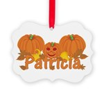 Halloween Pumpkin Patricia Picture Ornament