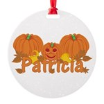 Halloween Pumpkin Patricia Round Ornament