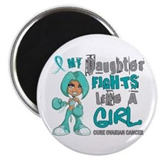 Fights Like a Girl 42.9 Ovarian Cancer Magnet