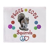 Peace Love SQUIRRELS Throw Blanket