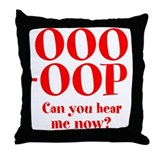 OOO-OOP Throw Pillow