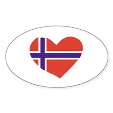NorwayHeart Oval Decal