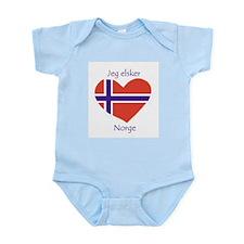 """I Love Norway"" Infant Creeper"