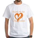 Leukemia Mens White T-shirts