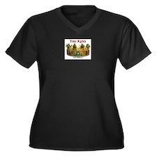 kingsm3.psd Women's Plus Size V-Neck Dark T-Shirt
