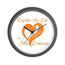 Stop Leukemia Wall Clock
