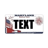 Maryland 1812 Custom License Plate