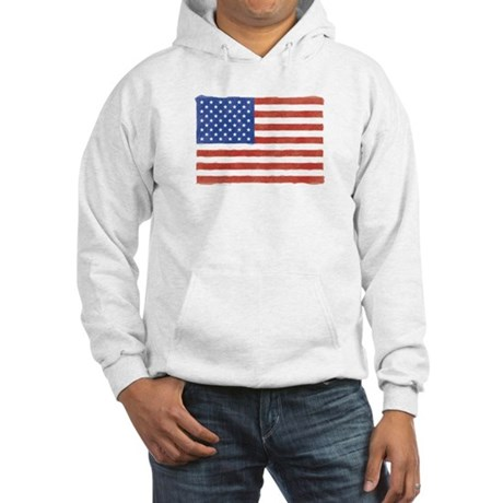 Watercolor USA Flag: Hooded Sweatshirt