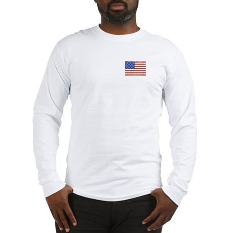 Watercolor USA Flag: Long Sleeve T-Shirt