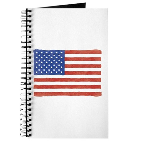 Watercolor USA Flag: Journal