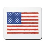 Watercolor USA Flag: Mousepad