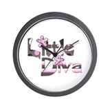 Little diva baby girl gift Wall Clock