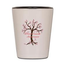 Breast Cancer Awareness Tree Shot Glass