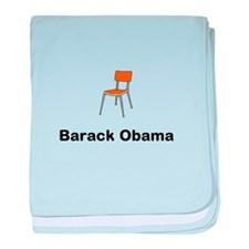 Barack Obama Chair baby blanket