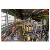Nuclear power station turbine room