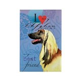 Afghan Hound Rectangle Magnet