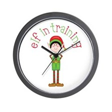 Elf in Training Wall Clock
