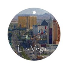 Las Vegas Painting Ornament (Round)