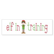 Elf in Training Bumper Sticker