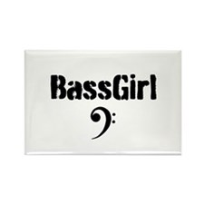 Bass Girl Rectangle Magnet
