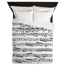 Music notes Queen Duvet