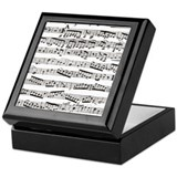 Music notes Keepsake Box