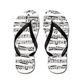 Music notes Flip Flops