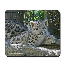 Baby Snow Leopard Mousepad