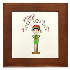 Official Toy Tester Framed Tile