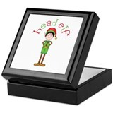 Head Christmas Elf Keepsake Box