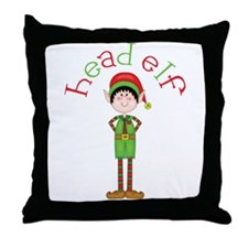 Head Christmas Elf Throw Pillow
