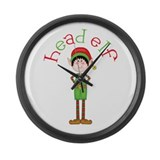 Head Christmas Elf Large Wall Clock