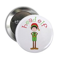 "Head Christmas Elf 2.25"" Button (100 pack)"