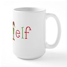 Head Christmas Elf Mug