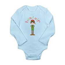 Head Christmas Elf Long Sleeve Infant Bodysuit