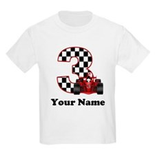 3rd Birthday Race Car T-Shirt