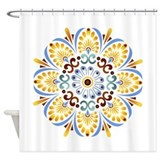 Golden Mandala Shower Curtain