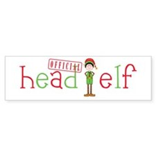 Official Head Elf Bumper Sticker