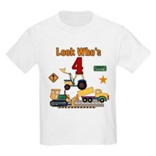 Construction 4th Birthday Kids T-Shirt