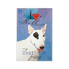 Bull Terrier Rectangle Magnet