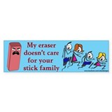 Eraser Stick Family Bumper Bumper Sticker
