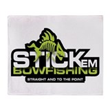 Stick'em Bowfishing Throw Blanket