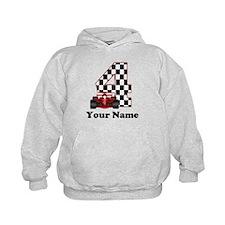 4th Birthday Race Car Hoodie