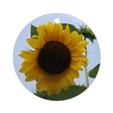 Sunflower Ornament (Round)