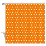 Orange Polka Dot Shower Curtain