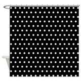 Black Polka Dot Shower Curtain