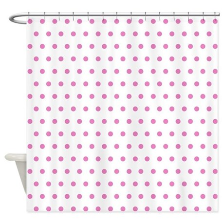 Pink Polka Dot Shower Curtain By Creativeconceptz