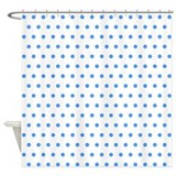 Blue Polka Dot Shower Curtain