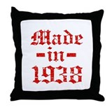 Made In 1938 Throw Pillow